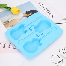 Food Grade Silicone Guitar Violin Shape Ice Mold