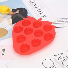Foldable Silicone Strawberry Shape Cake Molds for Home