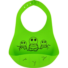 Waterproof Funny Silicone Baby Bibs In Frog Shape