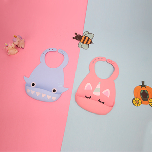 Waterproof Colorful Funny Silicone Baby Bibs In Animals Shape