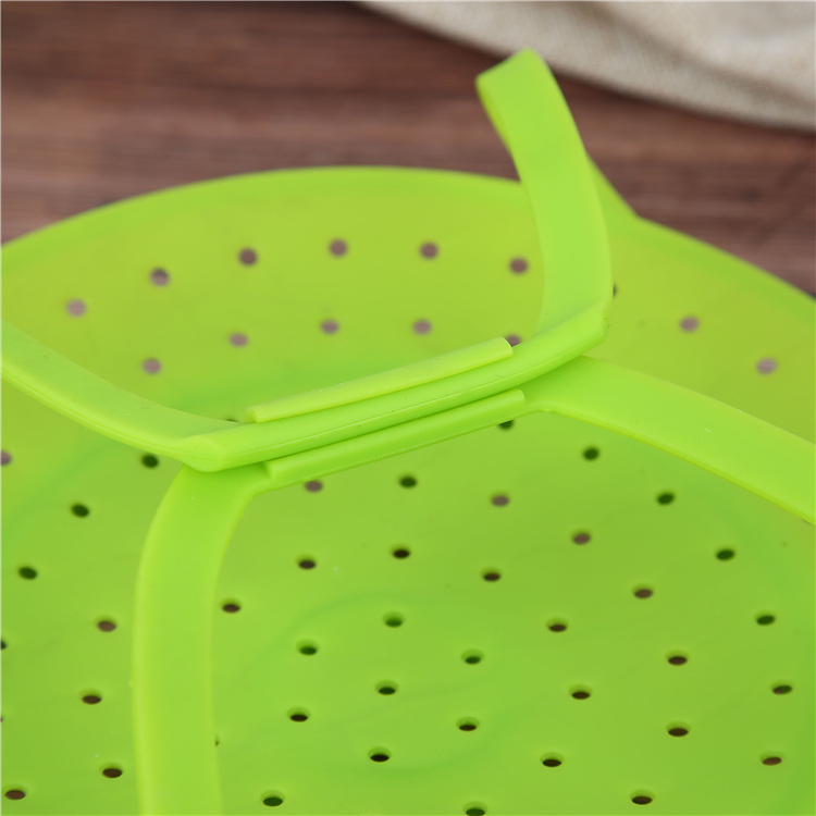 Silicone Green Fruit Tray with Many Holes
