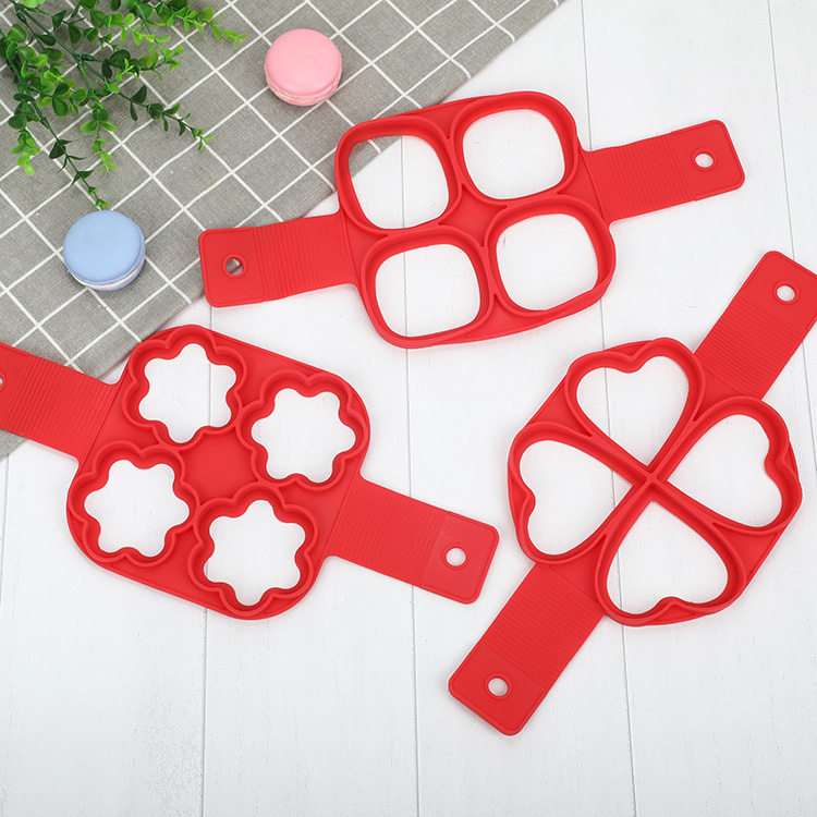 Domestic Square Silicone Baking Pancake Moulds